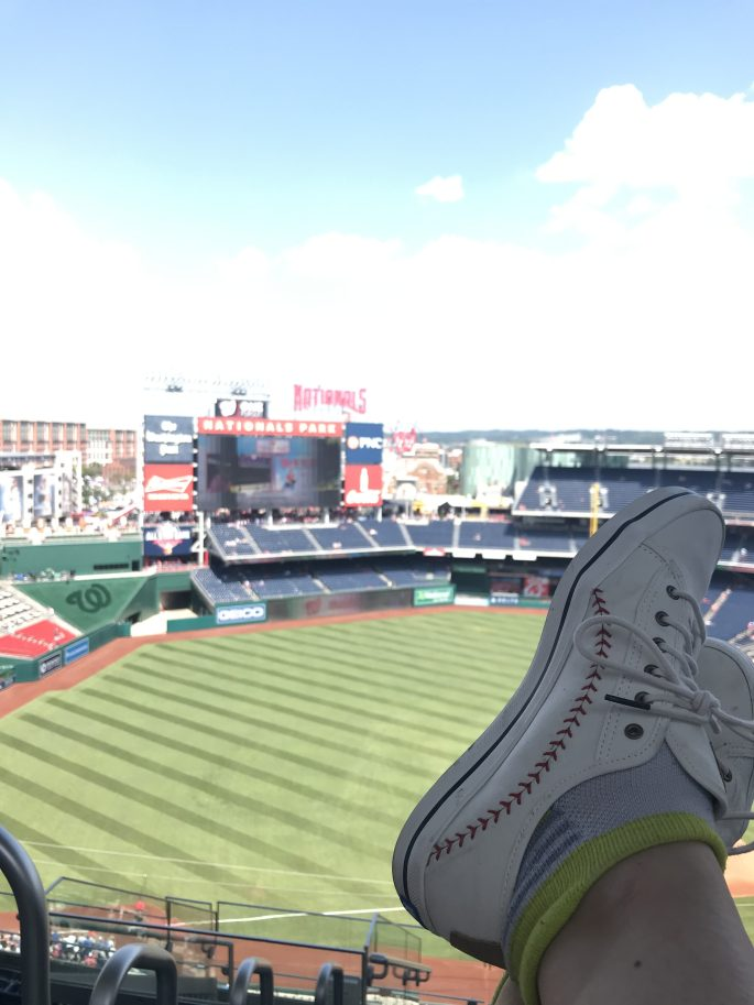 Baseball shoes at the Washington Nationals Park
