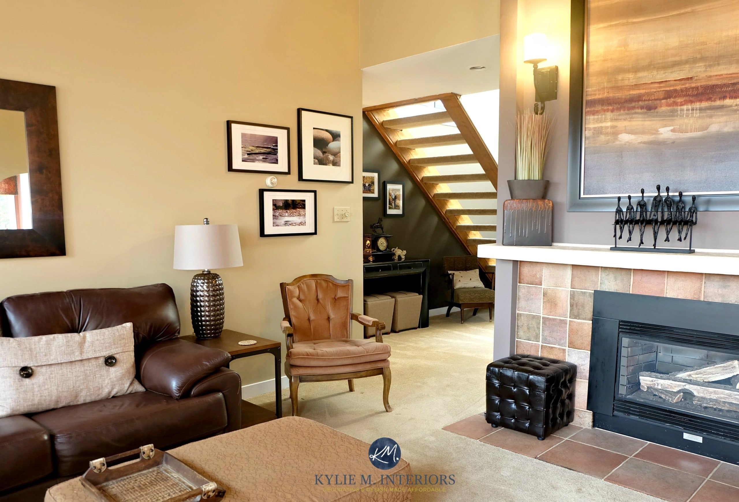 Benjamin Moore Stone House In Living Room With Smoked