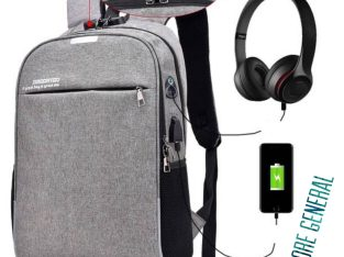 Anti-Theft Notebook Backpack with USB Port