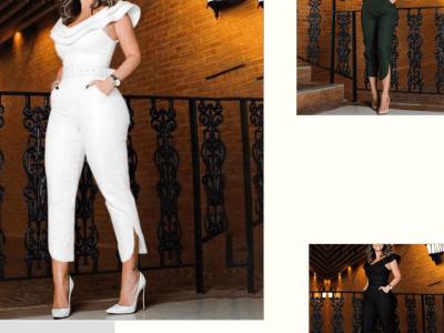 Elegant Off-the-Shoulder Jumpsuit
