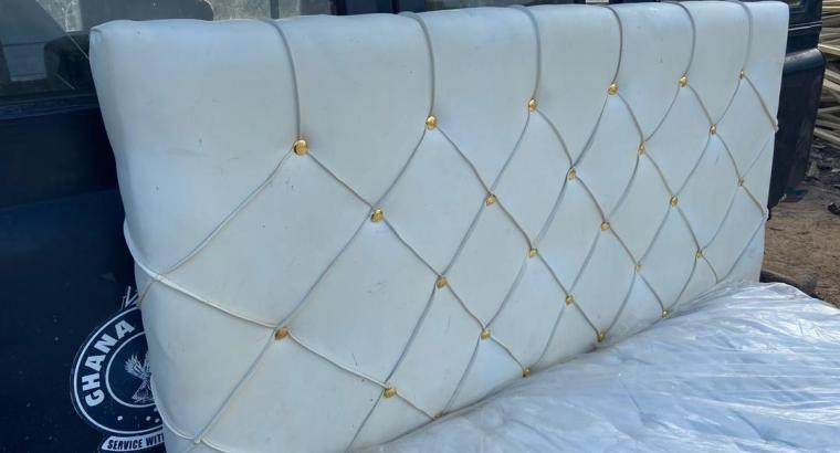 Romantic double bed frame with mattress