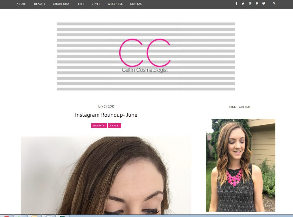Caitlin Cosmetologist is a fun beauty and lifestyle blog featuring great product reviews, style tips, wellness and more!