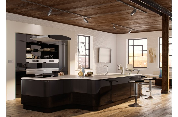 Lucente Black High Gloss  Kyme Kitchens