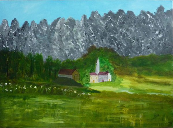 Ruine, Kyna de Schouel artiste peintre