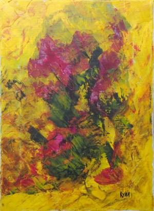 Les papillons, art abstrait, Kyna de Schouël artiste peintre