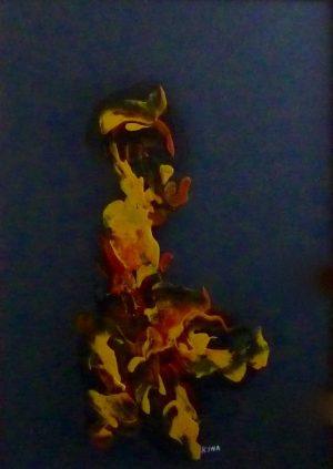 Forme, peinture abstraite, Kyna de Schouël artiste peintre