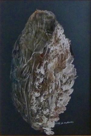La feuille, Art abstrait, Kyna de Schouël artiste peintre