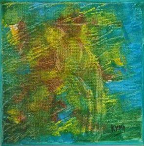 La servante, peinture abstraite, Kyna de Schouël artiste peintre