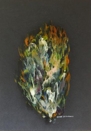Le marécage des fantômes, Art abstrait, Kyna de Schouël artiste peintre