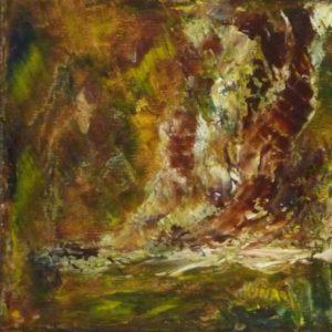 Surprise, peinture abstraite, Kyna de Schouël artiste peintre