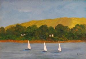 La balade des voiliers, Kyna de Schouël artiste peintre