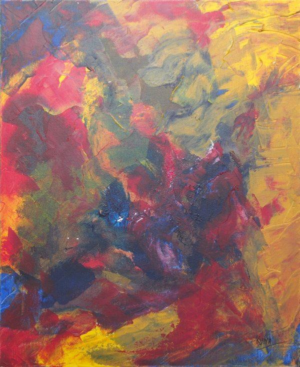 Les coraux, art abstrait, Kyna de Schouël artiste peintre