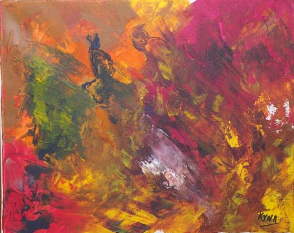 Vertige, art abstrait, Kyna de Schouël artiste peintre