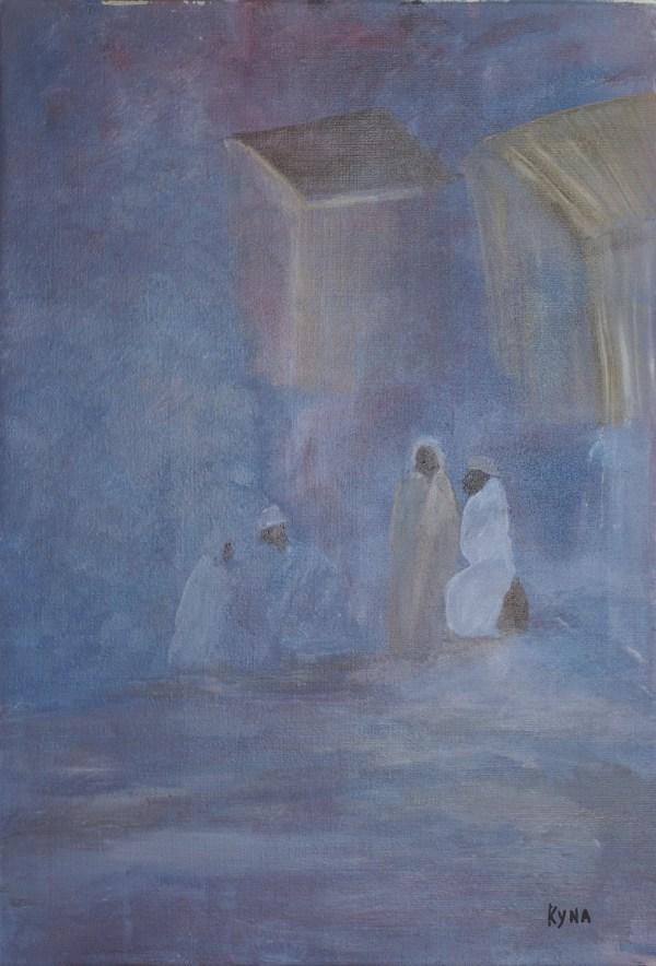 Caravansérail, peinture abstraite, Kyna de Schouël