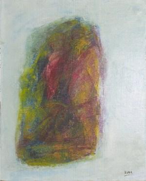 L'homme au chapeau, peinture abstraite, Kyna de Schouël artiste peintre