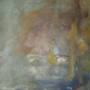 Fumerolles, peinture abstraite, Kyna de Schouël artiste peintre