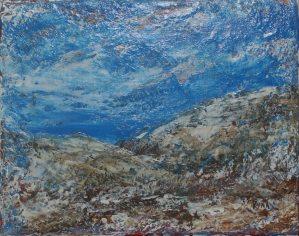 Le mistral, peinture impressionniste, Kyna de Schouël artiste peintre