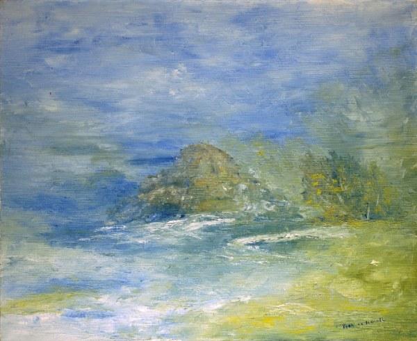 Eau calme, art abstrait, Kyna de Schouël artiste peintre