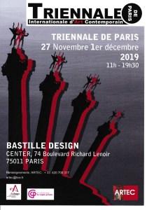Participation à la Triennale de Paris Bastille du 27 novenmbre au 1er décembre 2019