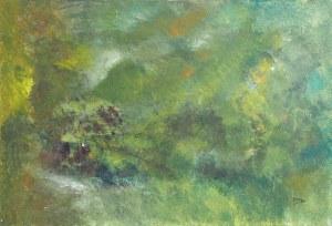La cabane verte, peinture, Kyna de Schouël artiste peintre