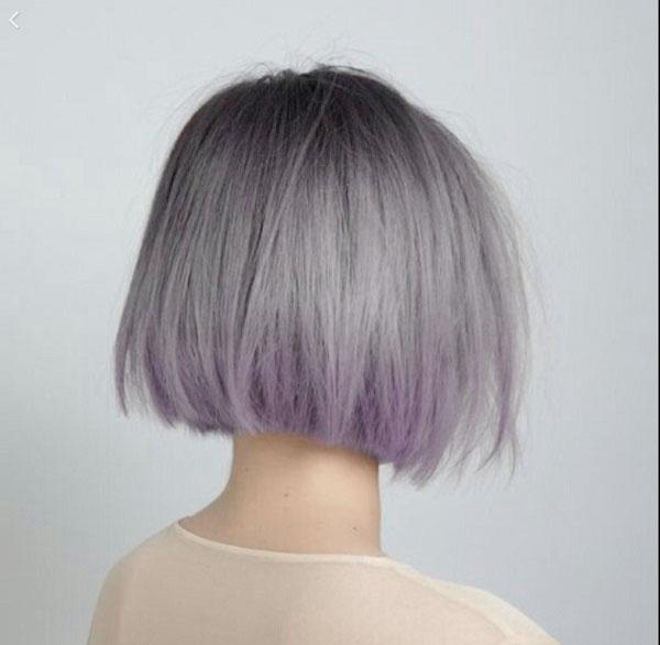 Tóc Bob màu tím khói
