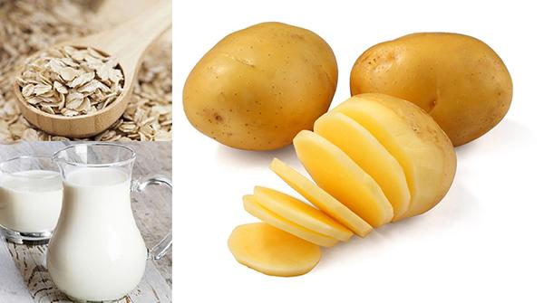 Cách làm mặt nạ khoai tây sữa tươi và bột yến mạch