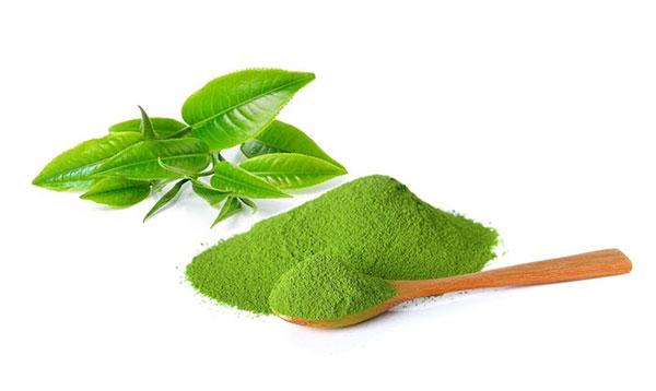 Bột trà xanh trị mụn