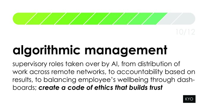 12 Hot Topics of Influence - Algorithmic Management- KYO