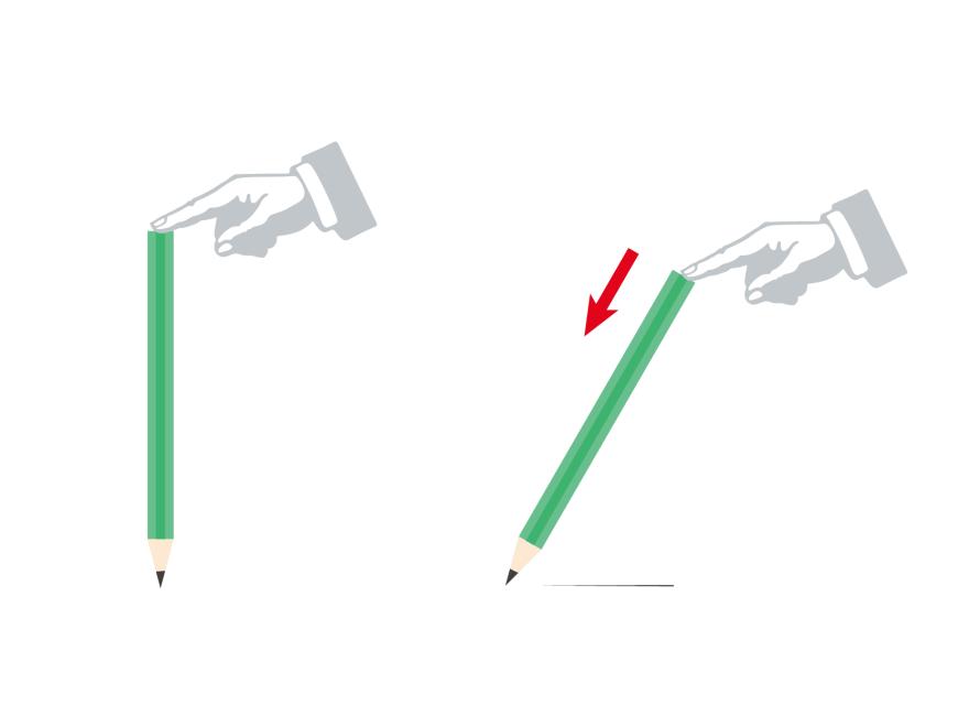 ロゴデザイン-飛行機ゲーム-鉛筆を倒す