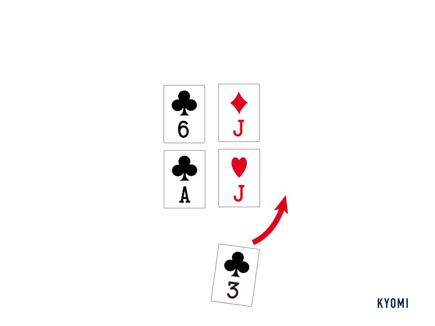 スコポーネ-図-場にカードを流す