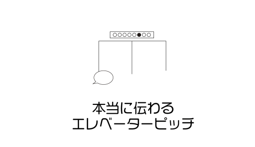 エレベーターピッチの作り方