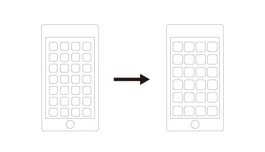 iPhone-画面表示拡大