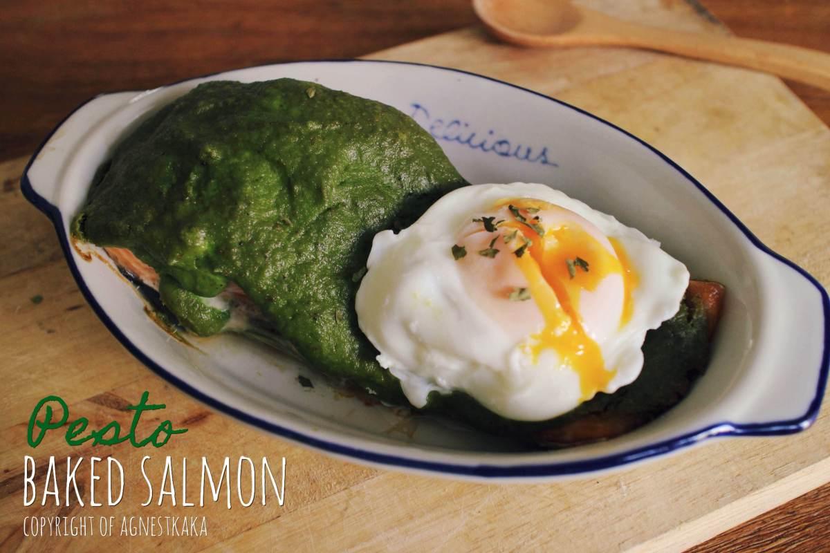 跟著食物去旅行 :自製義式青醬烤三文魚: | AgnesTKaka。卡卡小妻紙。
