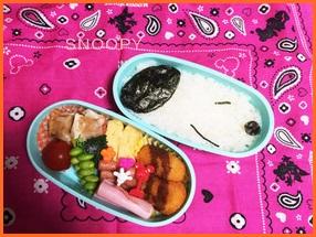sunu-506-1-226x300 キャラ弁 簡単に可愛いスヌーピーの作り方