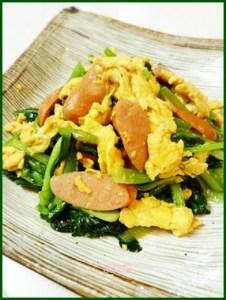 komatuna629-1-226x300 小松菜レシピ 簡単で人気の卵を使った1品