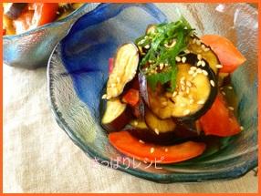 sappari601-1 なすとトマトのレシピ 夏はさっぱり食べたいです