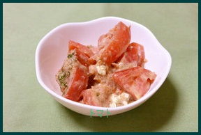 tomato809-1-227x300 トマトだけのサラダレシピ 大量消費に人気の味付けサラダ