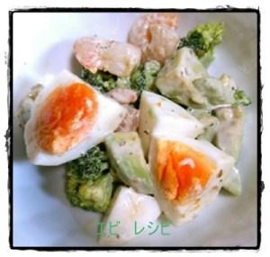 ebi1-1-300x285 エビレシピ お弁当に人気 エビと卵の炒め物とサラダ