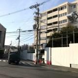右京区梅津、四条通沿いの大きな解体現場