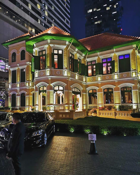 【バンコクWホテルの敷地内にある元ロシア大使館を利用してできたレストラン&バー】The House on Sathorn