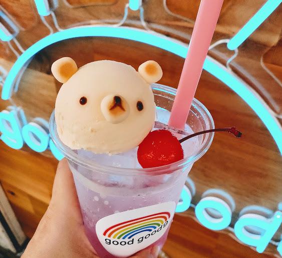 【京都の可愛い限定の「しろくまさんクリームソーダ」を飲みに】goodgood9kyoto