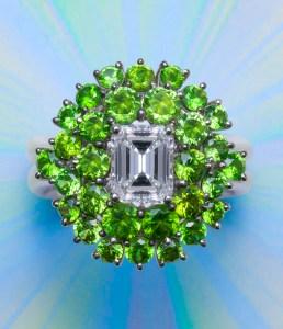 Diamond & Demantoid Ring AT168
