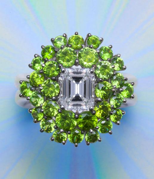 Diamond/Demantoid Ring AT168