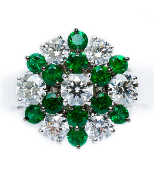 Emerald / Diamond Ring