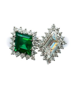 Zambian Emerald / Diamond Ring BC6348