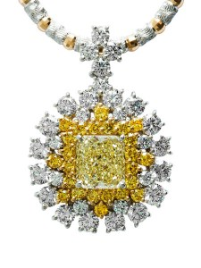 Yellow Diamond Pendant AT196