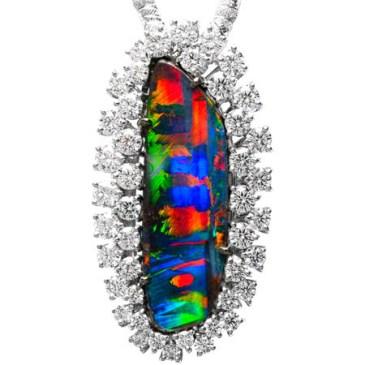 """Very Rare"" Boulder Opal Pendant/Brooch"