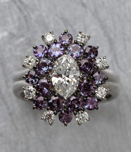 Alexandrite & Diamond Ring BC4586