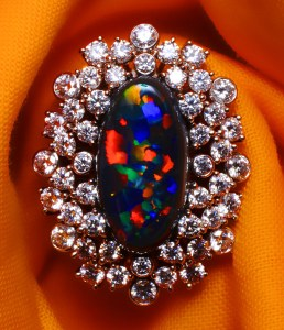 Black Opal Ring AT100