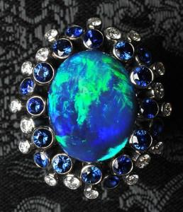 Black Opal Ring AG0001